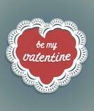 Hjärta snör åt Valentine Card vektor illustrationer