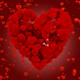 hjärta som 3d göras av hjärtor Arkivbild