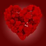 hjärta som 3d göras av hjärtor Royaltyfri Foto