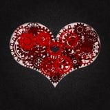 Hjärta som en mekanism som göras av kuggar och kugghjul Vektorillustration av steampunkhjärta tillgänglig vektor för valentiner f royaltyfri illustrationer