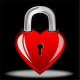 Hjärta som ett lås royaltyfri illustrationer