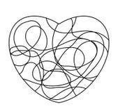Hjärta som formmosaiksymbol eller logo som isoleras på vit Fotografering för Bildbyråer