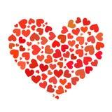 Hjärta som framlänges utgöras av illustration för hjärtor stock illustrationer