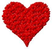 Hjärta som göras av hjärtor för valentin dag eller mors dag Arkivbilder
