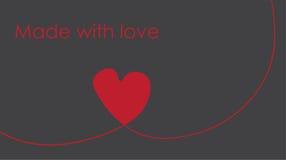 Hjärta som göras av rött band på grå bakgrund Royaltyfri Fotografi