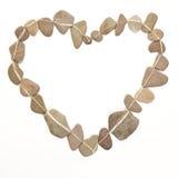 Hjärta som göras av stenar som symbolet för Royaltyfria Bilder