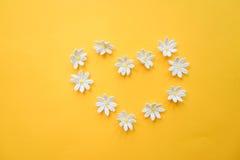 Hjärta som göras med händer med blommor Royaltyfria Foton