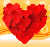 Hjärta som göras med romansk passion för hjärtahjälpmedel Royaltyfri Bild