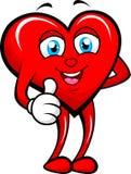 Hjärta som ger upp tummen Royaltyfri Fotografi