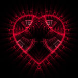 hjärta som skiner Arkivbild