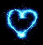 hjärta som sparkling royaltyfria foton