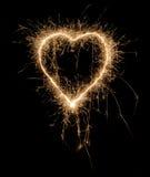 hjärta som sparkling arkivbilder