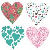 Hjärta-ställ in Royaltyfri Foto