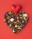 Hjärta - symbol av förälskelse Arkivfoton