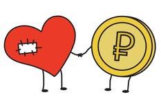 Hjärta till hjärta Hjälp välgörenhet Arkivbilder