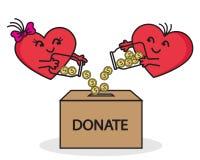 Hjärta till hjärta Hjälp välgörenhet Royaltyfria Bilder