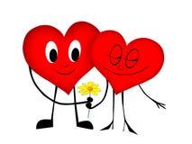 hjärta två Royaltyfri Bild