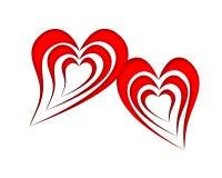 hjärta två stock illustrationer