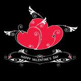 Hjärta två med vingar för designmall Arkivbilder
