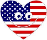 hjärta USA royaltyfri illustrationer