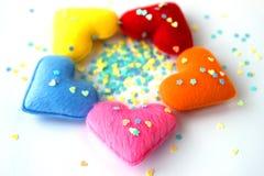 Hjärta - valentin dag Arkivbild