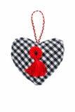 Hjärta-valentin på en isolerad bakgrund royaltyfri foto