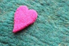 Hjärta valentindagkort royaltyfri foto