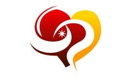 Hjärta Valentine Share royaltyfri illustrationer