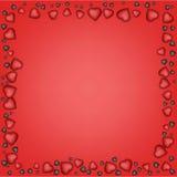 Hjärtabakgrund för valentindagkort Royaltyfri Bild