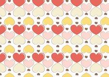 Hjärtabakgrund i glassfärg Fotografering för Bildbyråer