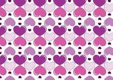 Hjärtabakgrund i lilor Arkivfoton