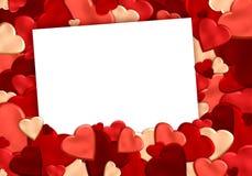 Hjärtabakgrund med papper Arkivbilder