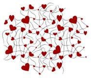 Hjärtabakgrund två Arkivfoto