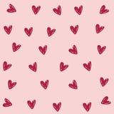 Hjärtabakgrundsbild stock illustrationer