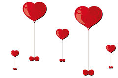 Hjärtaballonger Royaltyfria Bilder