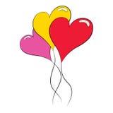 Hjärtaballonger Arkivfoto