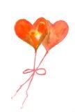 Hjärtaballonger Arkivbilder