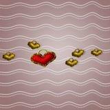 Hjärtabandbakgrund royaltyfri illustrationer