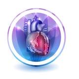 Hjärtabehandlingtecken stock illustrationer