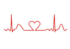 hjärtabildskärm Fotografering för Bildbyråer