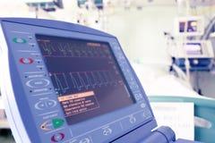 Hjärtabildskärm i en sjukhuslokal. Fotografering för Bildbyråer