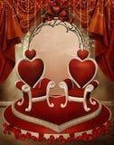 hjärtabiskopsstolar vektor illustrationer