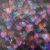 Hjärtabokeh som effekt 10 eps Royaltyfria Foton