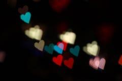 Hjärtabokehfärg Royaltyfri Bild