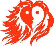 Hjärtabrand royaltyfri illustrationer