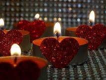 -hjärtad stearinljus Royaltyfri Bild