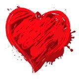 Hjärtadesignen betyder den Valentine Love 3d illustrationen vektor illustrationer