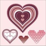 Hjärtadesignillustration vektor illustrationer