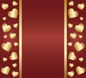 Hjärtadesignkort Royaltyfria Foton