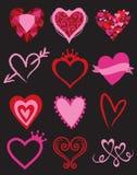Hjärtadiagrambeståndsdelar vektor illustrationer